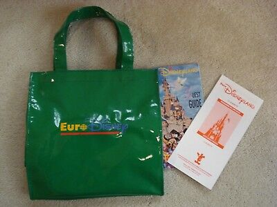 Rare Disney Euro Disneyland Opening Day Programme / Guest Guide / Bag 12/4/1992