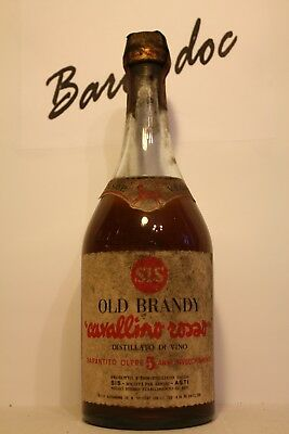 Brandy Cavallino Rosso old 5 years , old bottles 70 years cl 0,75 , 40%