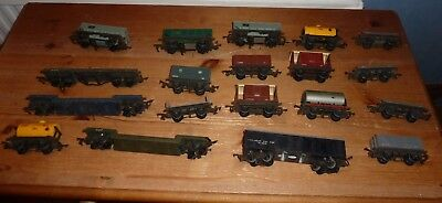 Job lot of early Triang Wagons metal chassis   00 Gauge spares or repair