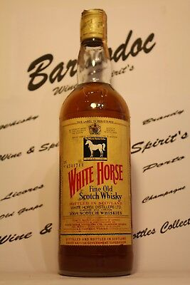 Whisky White Horse Scotland ,Vintage 70 years , imported Carpano - cl 0,75 , 40%