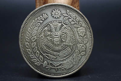 Collection early Chinese (Tibet silver) make dragon COIN    XT-090