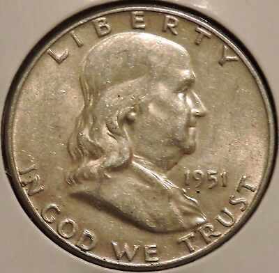 Franklin Half Dollar - 1951 - Historic Silver! - $1 Unlimited Shipping