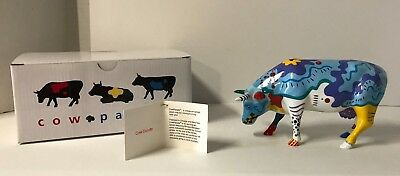 Cow Parade Collectible Figurine 2001 Cow Doodle #9194 Retired NEW