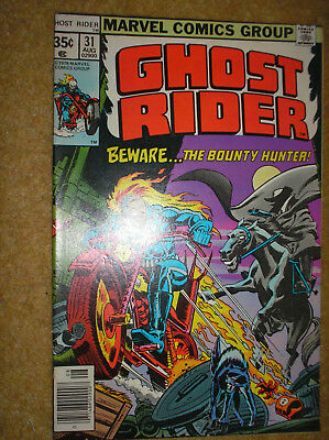 GHOST RIDER # 31 DR STRANGE DON PERLIN 35c 1978 BRONZE AGE MARVEL COMIC BOOK