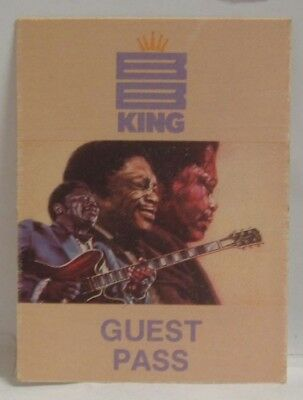 B.b. King - Vintage Original Concert Tour Cloth Backstage Pass