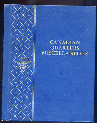 14 Canadian Quarters.  In Whitman Folder #9507 Canadian Quarters Miscellaneous