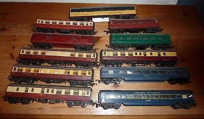 Job lot of early Triang Coaches   00 Gauge spares or repair