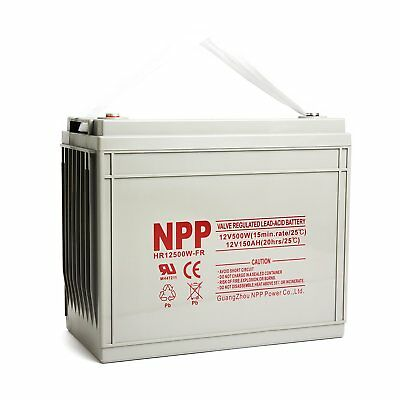 NPP 12V500W(15min-rate/77°F)High Rate UPS Battery Replace CSB and C&D HRL12500W