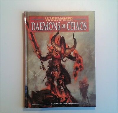 Warhammer Daemons of Chaos- 1x 8th Edition Hardback Army Book. OOP.
