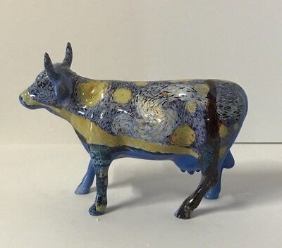 Cow Parade Collectible Figurine 2001 Starry Starry Cow #9196 Retired NEW