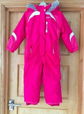 CAMPRI *3-4y GIRLS PINK PADDED WINTER SKI SUIT Fleece Lined AGE 3 - 4 YEARS