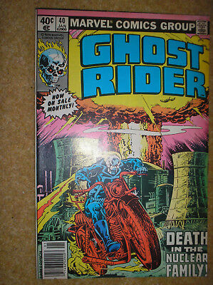GHOST RIDER # 40 NEWSSTAND VARIANT PERLIN 40c 1980 BRONZE AGE MARVEL COMIC BOOK