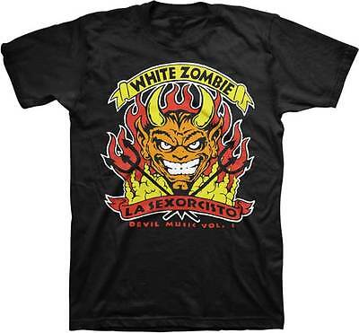 New Men's Adult White Zombie Rob Zombie Devil's Music Cotton T-Shirt XL