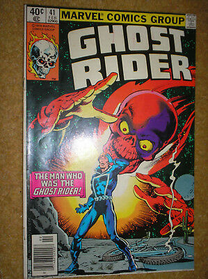 GHOST RIDER # 41 NEWSSTAND VARIANT PERLIN 40c 1980 BRONZE AGE MARVEL COMIC BOOK
