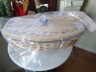Longaberger  2007 Heritage Days Basket Combo New Wood Lid And New Tie On