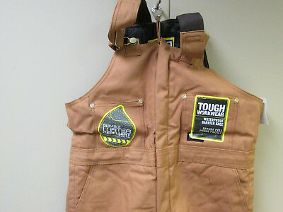 Walls W93975N Tough Workwear Insulated Overalls Brown Regular Medium 34-36