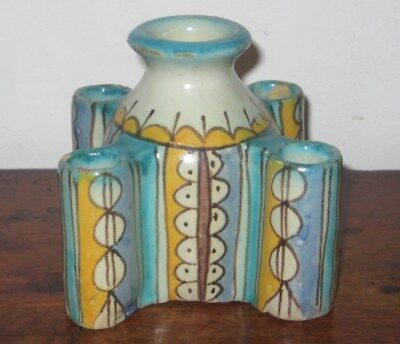 Probably Morrocain Pottery Painted Spill Vase