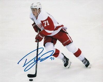 Dylan Larkin Signed Autograph 8x10 Photo Detroit Red Wings