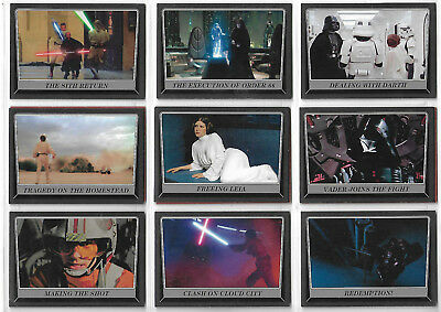 Star Wars Rogue One Mission Briefing 12 Blk Parallel Chase Card Lot - Topps 2016