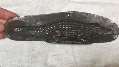 Wonderful Vintage Antique Cladder And Jansen Alligator Mold Amsterdam