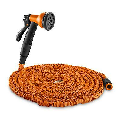 3 Times Expandable Water Pipe Hose Garden Patio No Kink Hand Spray Orange 22.5 M