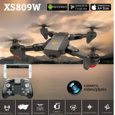 VISUO XS809W WIFI FPV RC Drone With 2MP HD Camera 6Axis