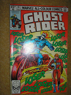 Ghost Rider # 46 Mike Fleisher Don Perlin Variant Bronze Age Marvel Comic Book