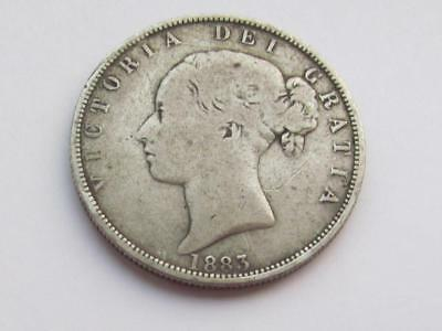 Queen Victoria 1883 silver Halfcrown - Good collectable coin