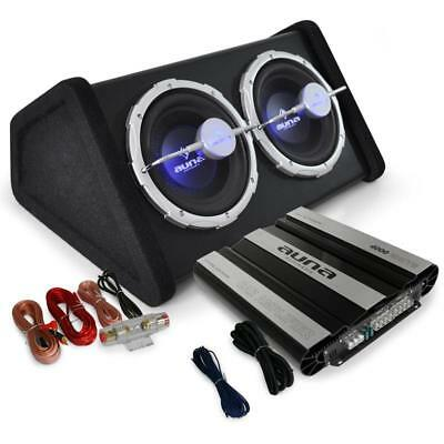 Car Audio System 'black Line ' Subwoofer Amplifier Amp 4000W Set Bass Sub New