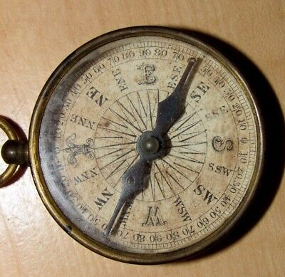 Antique Pocket Compass Working