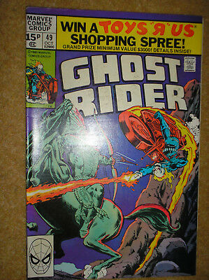 Ghost Rider # 49 Perlin Variant 1980 Bronze Age Supernatural Marvel Comic Book