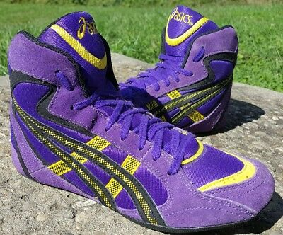 RARE Colorway Asics Purple Moshes Wrestling Shoes Size 8.5