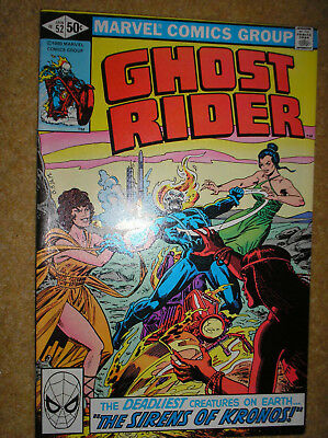 GHOST RIDER # 52 DON PERLIN 50c 1981 BRONZE AGE SUPERNATURAL MARVEL COMIC BOOK