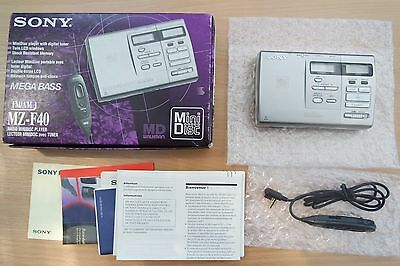 Sony MZ-F40 Minidisc Player with built in AM/FM radio !!! VERY RARE !!! BOXED