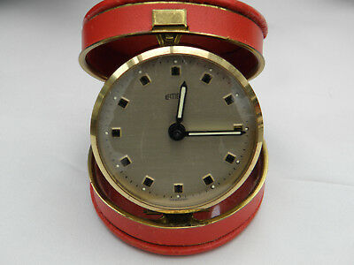 EMES TRAVEL CLOCK IN RED CASE Made in Germany