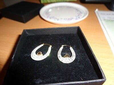 9ct Gold Creole Double sided Heart Earrings.hallmarked 375