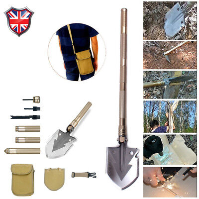 Multi-function Outdoor Folding Shovel Self-defense Tool Convenient to Carry UK