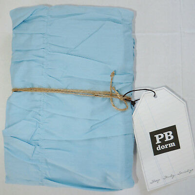 Pottery Barn Teen Euro Sham Ruched Blue Cotton New
