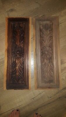 Antique carved wood panels