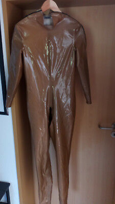 Angeldis metallic bronze 100% Latex rubber Herren CatSuit neuw Gr.M/L/XL fetisch