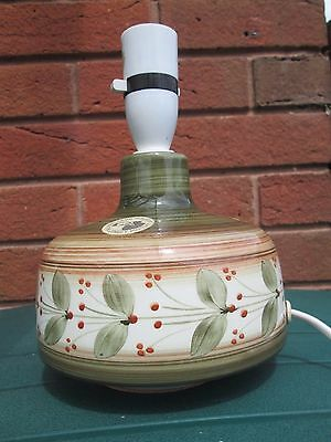 Vintage / retro 1960`s 70`s Jersey pottery lamp with original label