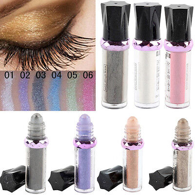 11 Farbe ROLL ON EYE SHIMMER Lidschatten Glitter Pigment Powder Body Pro Makeup