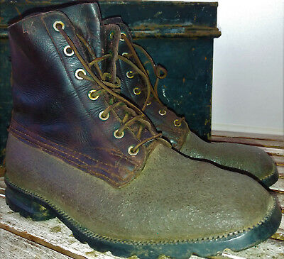 Mens vintage leather boots 1943 Swedish army living history Goodwood Steampunk