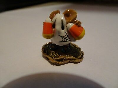 Wee Forest Folk special embellished Candy Corn Kid with spider