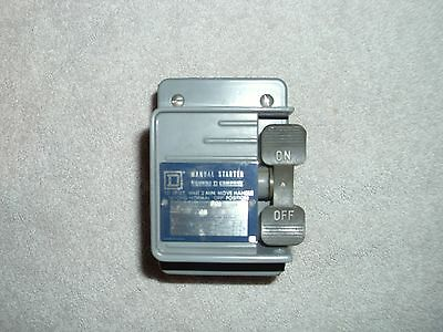 Square D Water Tight FHP Manual Starter 2510FW-1 Series A