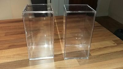 2 Plastic Storage Boxes Display Box For Ty Beanies TY 4 x 8 x 4 inches