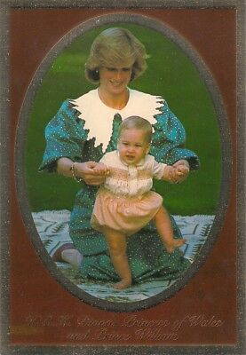 Princess Diana With Her Son Prince William Age 10 Months - Original Postcard