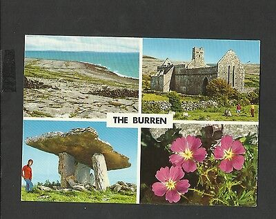 J Hinde Multi View Colour Postcard  The Burren Clare Ireland unposted