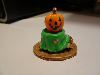 Wee Forest Folk special color M-191a, mouse under table with pumpkin