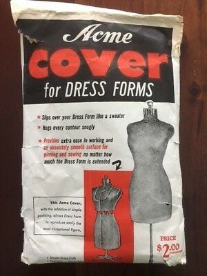 Vintage Cover Only for Acme Dress Form Unused in Original Envelope Jersey Cloth